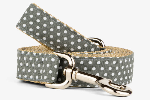 Gray Mini Dots Dog Leash