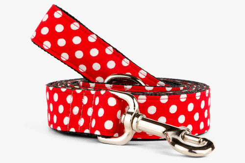 Red Mini Dots Dog Leash
