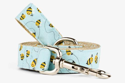 Blue Bees Dog Leash
