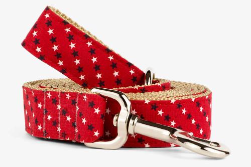 Red,White, Blue Stars Dog Leash