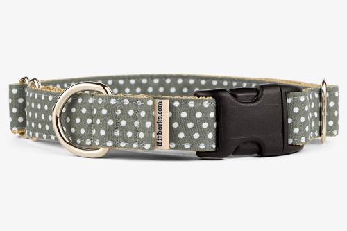 Gray Mini Dots Patterned Fabric Martingale