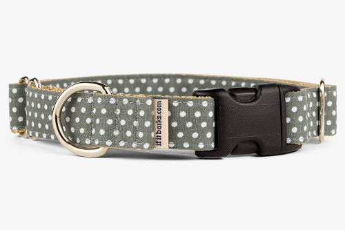 Gray Mini Dots Patterned Fabric Martingale