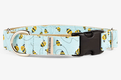 Blue Bees Patterned Fabric Martingale