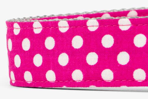 Fuchsia Mini Dots Patterned Fabric Martingale