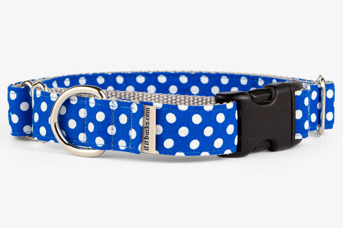 Royal Blue Mini Dots Patterned Fabric Martingale