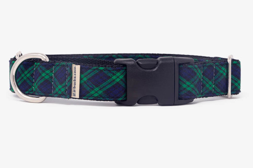 Hunter Green Plaid Patterned Fabric Martingale