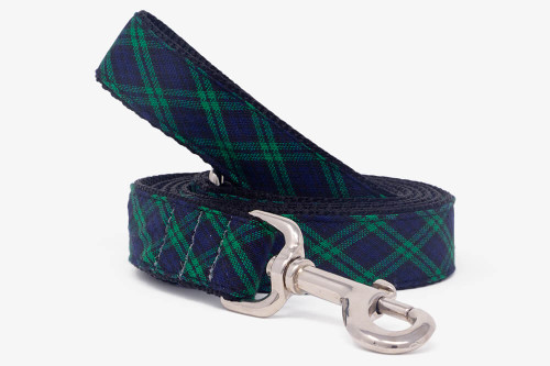 Hunter Green Plaid Dog Leash