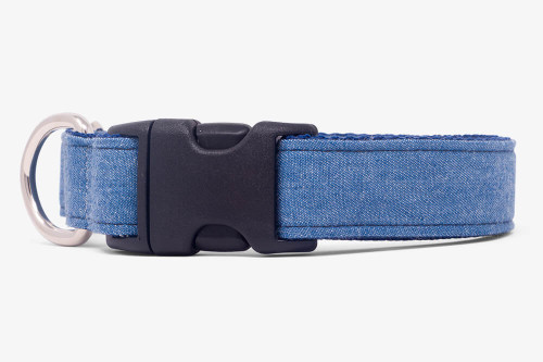Denim Blues Dog Collar