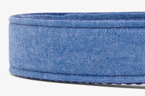 Denim Blues Fabric Dog Leash
