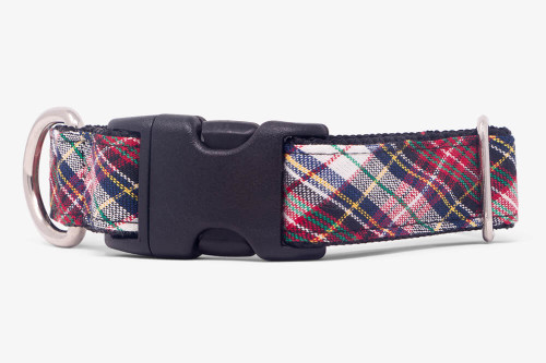 Playful Plaid Dog Collar