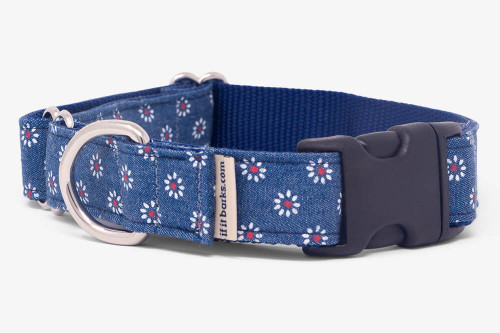 Denim Daisy Fabric Martingale