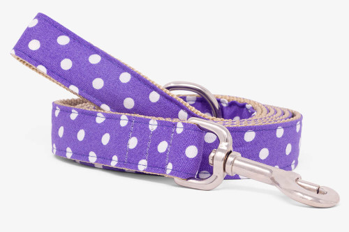 Purple Mini Dots Dog Leash