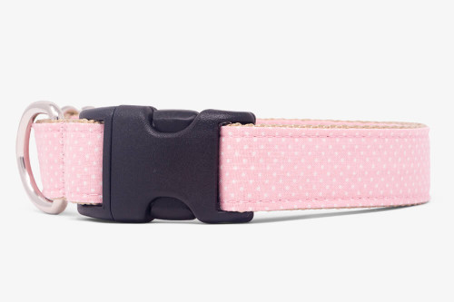 Light Pink Pin Dots Dog Collar