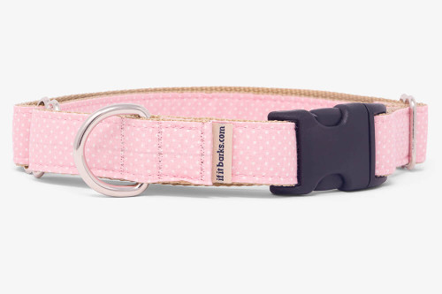 Light Pink Pin Dots Fabric Martingale