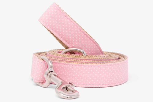 Light Pink Pin Dots Dog Leash