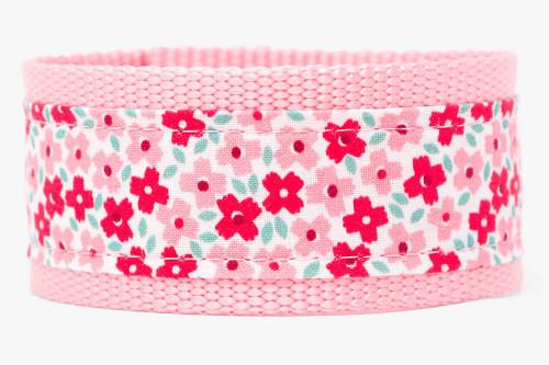 Be Mine Bouquet Fabric Dog Leash