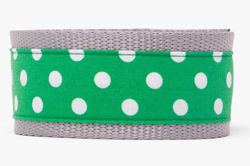 Green Clover Dots Dog Collar