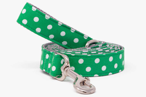 Green Clover Dots Dog Leash