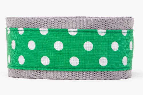 Green Clover Dots Dog Leash