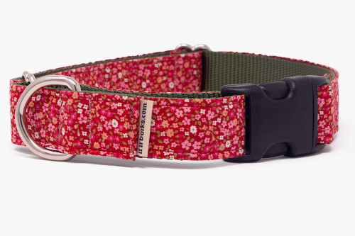 Red Petite Flowers Fabric Martingale