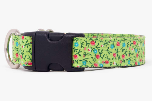 Lime Country Calicos Dog Collar