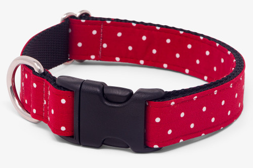 Red Small Dots Dog Collar