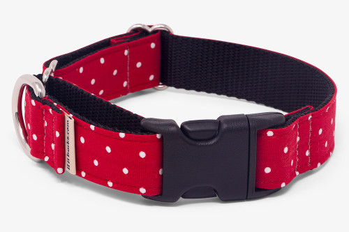 Small Dots Red Fabric Martingale