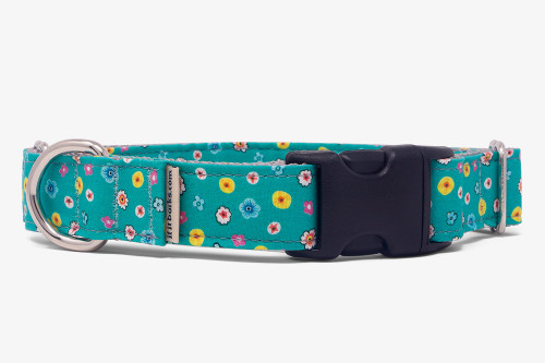 Teal Tiny Flowers Fabric Martingale