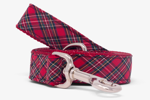 Sevenberry Red Plaid Dog Leash