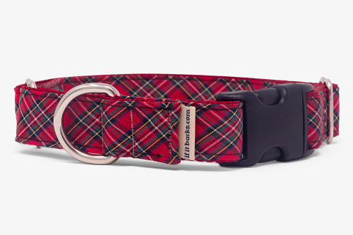 Sevenberry Red Plaid Fabric Martingale