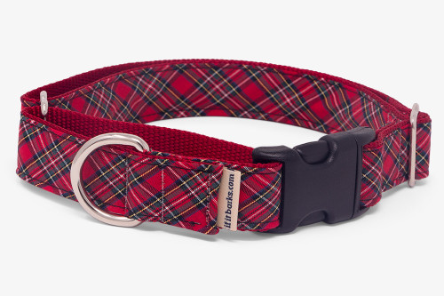 Sevenberry Red Plaid Fabric Martingale