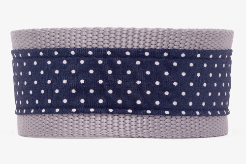 Dark Navy Pin Dots Dog Leash