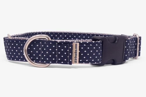 Dark Navy Pin Dots Fabric Martingale