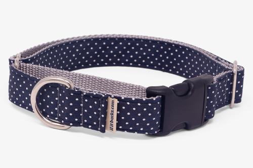 Dark Navy Pin Dots Fabric Martingale