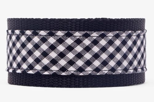 Black & White Gingham Dog Leash