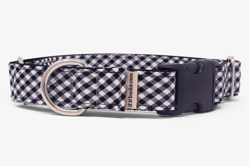 Black & White Gingham Fabric Martingale