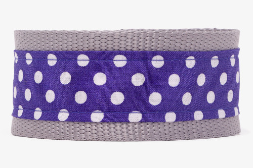 Purple Dots Fabric Dog Leash