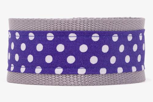 Purple Tiny Polka Dots Fabric Martingale