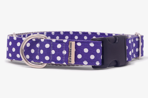 Purple Tiny Polka Dots Fabric Martingale