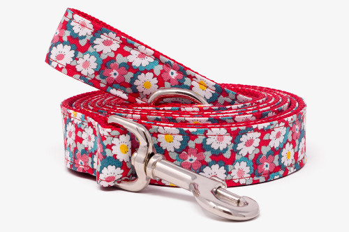 Retro Floral Dog Leash