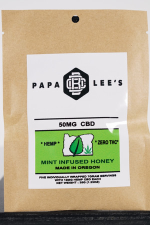 Papa Lee's Hemp CBD infused Wildflower Honey-Peppermint, 50mg CBD, ZERO THC