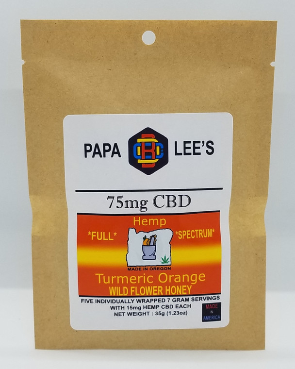 PAPA LEE'S 75mg CBD Full Spectrum Turmeric Orange Honey