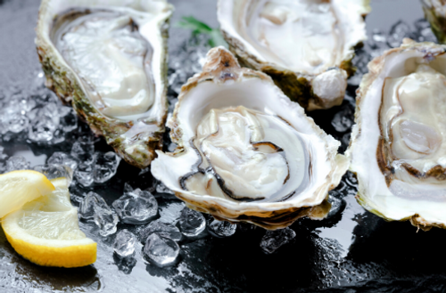 oysters lemon ice huitres