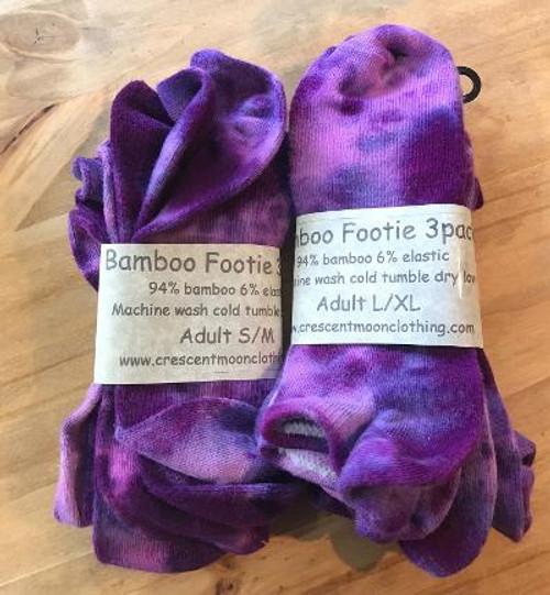 Footie Three-Pack - Purple