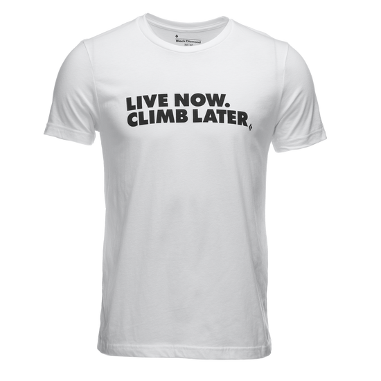 Live Now, Climb Later Tee