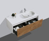 ALMA-FIONA  48″ NATURE WOOD WALL MOUNT VANITY WITH RIGHT SIDE VESSEL SINK