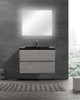 ALMA-EDI 30″ CEMENT GREY WALL MOUNT VANITY WITH BLACK COUNTERTOP