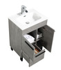 ALMA GILL 24″ CEMENT GREY VANITY WITH PORCELAIN SINK