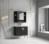 "Alma Bulanka 40"" Bathroom Vanity Dawn grey , Golden Brass Hardware"