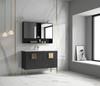 "Alma Bulanka 48"" Single Sink Vanity Dawn grey , Golden Brass Hardware"